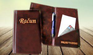 Etui za račun – prava koža