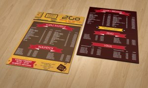 Dizaj cjenika za caffe barove Split