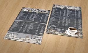 Dizajn cjenika za caffe barove Osijek