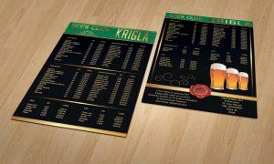 Dizajn cjenika za caffe barove Zadar