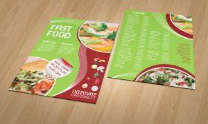 Dizajn cjenika i jelovnika za Fast Food Osijek