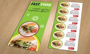 Dizajn cjenika i jelovnika za Fast food Split