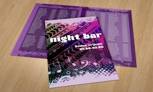 Dizajn cjenika za Night barove Osijek