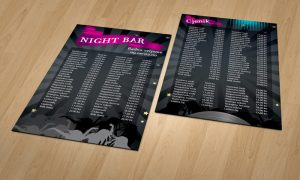 Dizajn cjenika za Night barove Rijeka