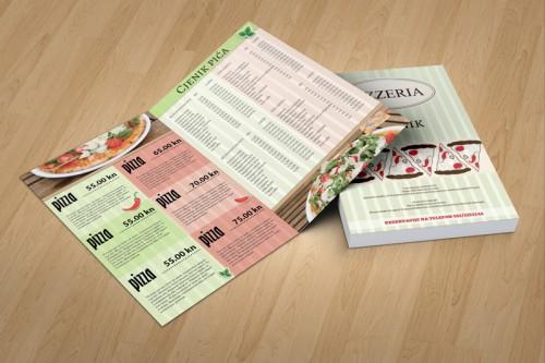 Dizajn jelovnika za pizzerie Osijek