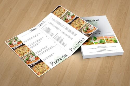 Dizajn jelovnika za pizzerie Slavonski Brod