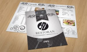 Dizajn jelovnika za restorane Rijeka
