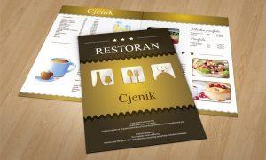 Dizajn jelovnika za restorane Zadar