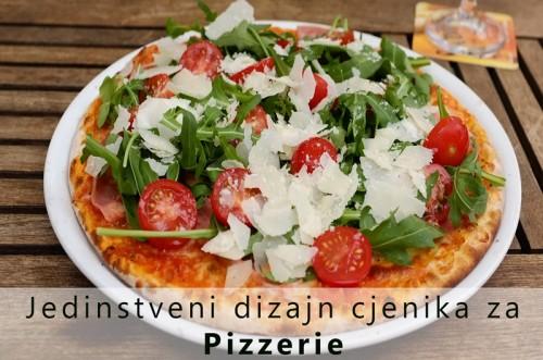 Jedinstveni dizajn jelovnika za pizzerie