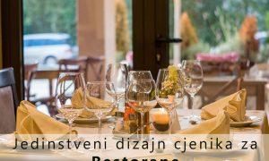 Jedinstveni dizajn jelovnika za restorane