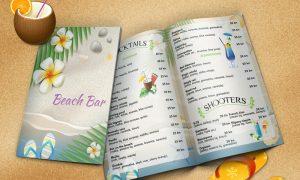 Dizajn cjenika za Beach bar Rovinj
