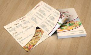 dizajn jelovnika za pizzerie Pula