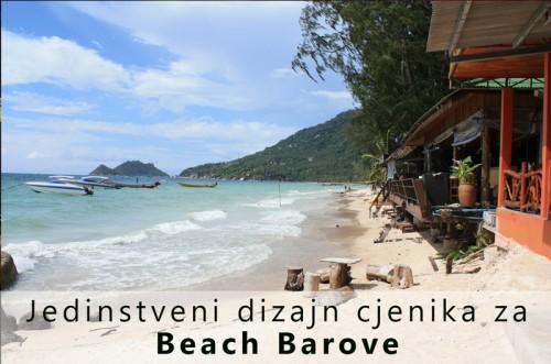 Jedinstveni dizajn cjenika za beach barove
